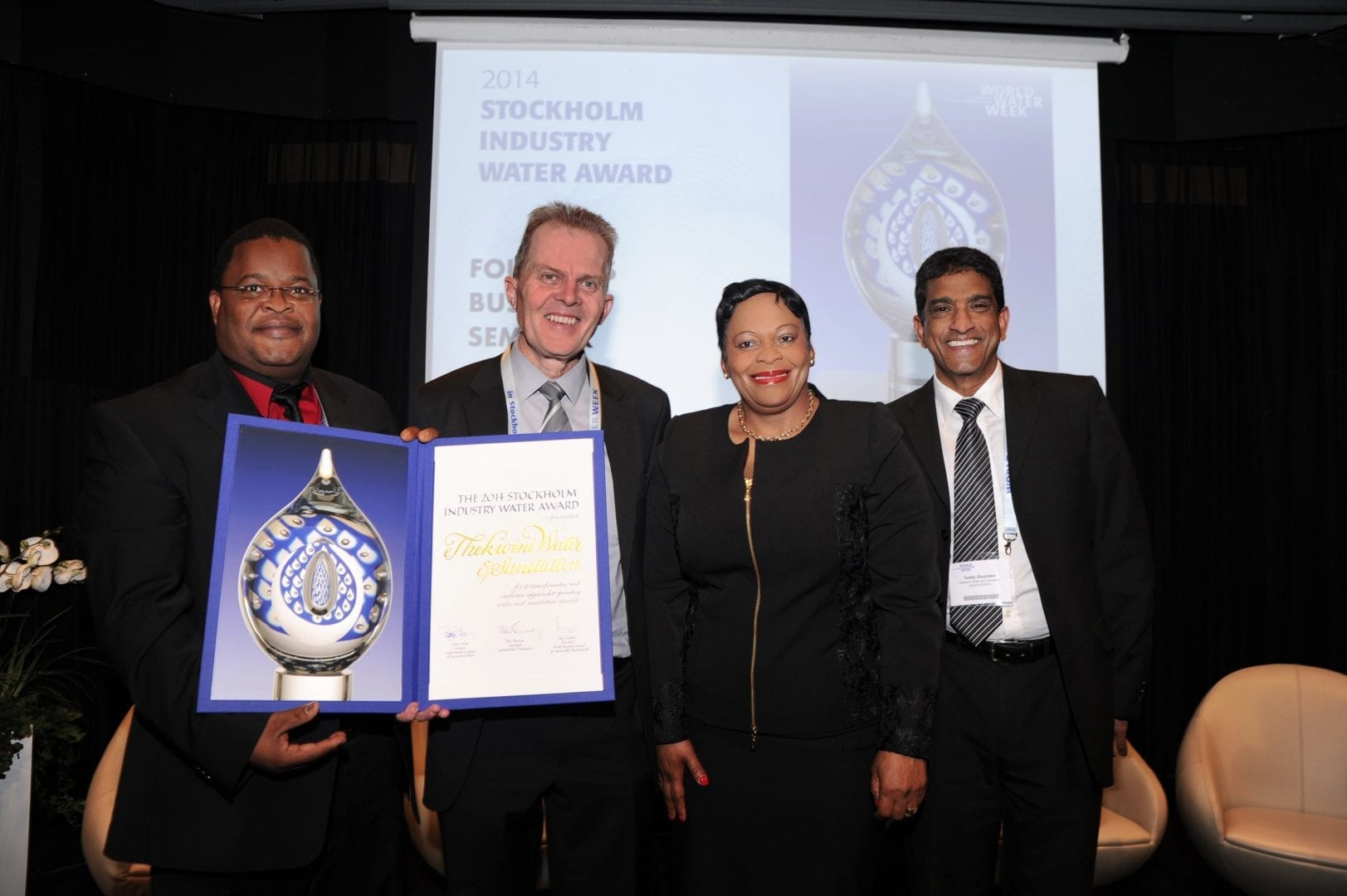 eThekwini accepts Stockholm Industry Water Award