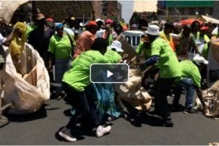 Waste pickers take to the streets