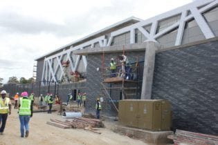 Construction work at the Plettenberg Bay Magistrate's project