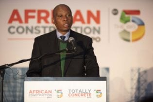 Executive Mayor Herman Mashaba at the African Construction and Totally Concrete Expo 2018